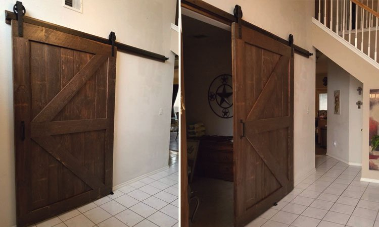 Vintage Double Angle Brace Barn Door