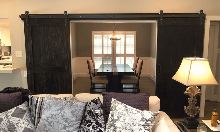 Ebony Stain Center Brace Barn Doors