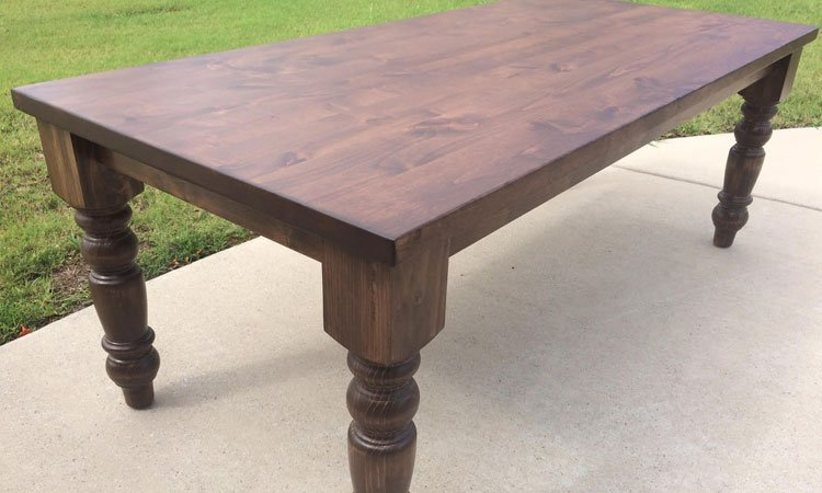 Grand Turned Leg Farmhouse Table