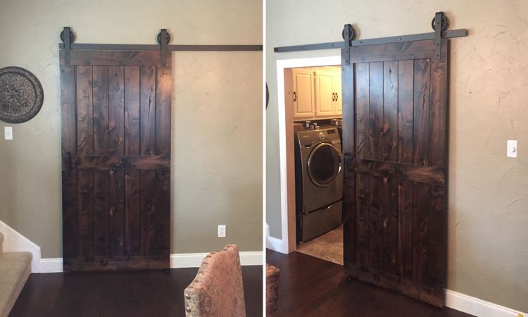 Center Brace Barn Door