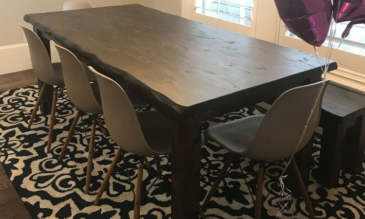 Dark Walnut Classic Farmhouse Table