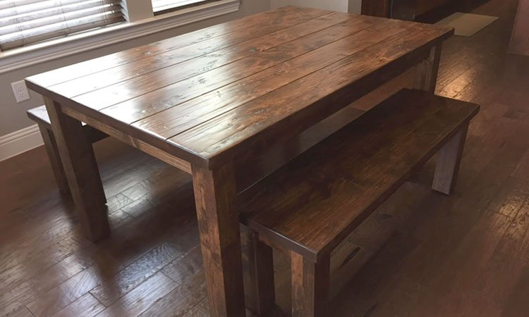 Classic Farmhouse Table & Benches