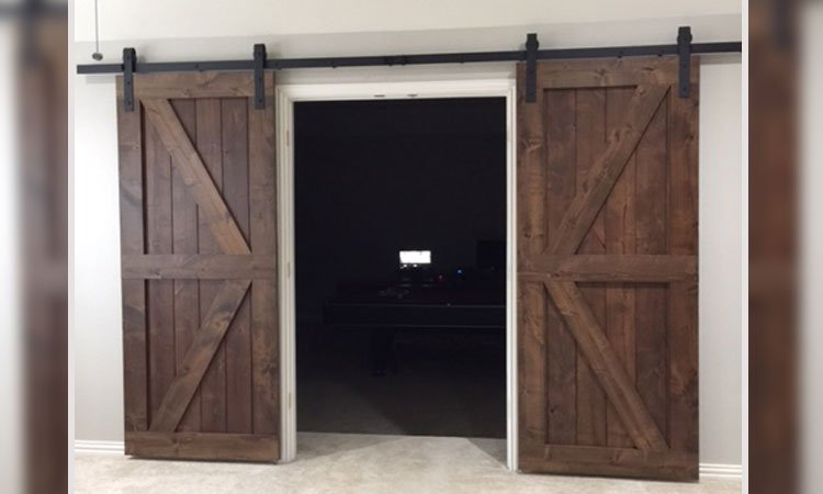 Custom Double Angle Brace Barn Doors