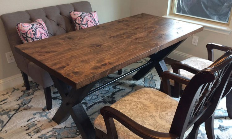 Industrial X-Base Trestle Table