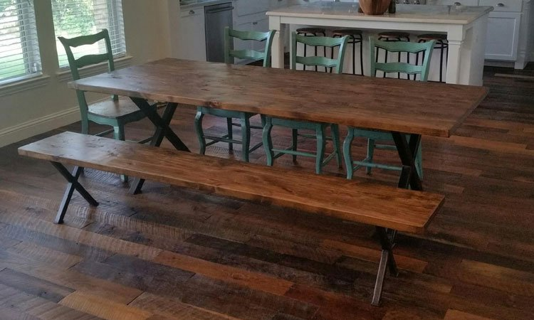 custom handmade wood furniture near oak point texas