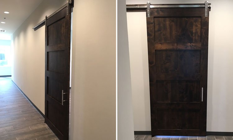 Four Panel Barn Door | Custom Rustic Wood Doors Grapevine
