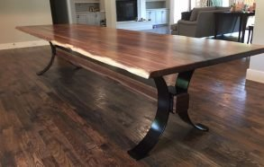 Hand Cared Live Edge Dining Table | Custom Tables Richardson, Tx