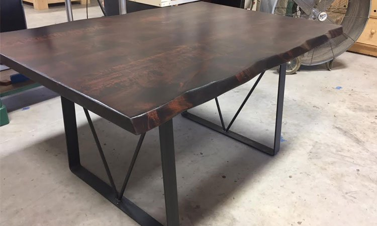 Handmade Hardwood & Steel Dining Table | Rustic Tables Prosper