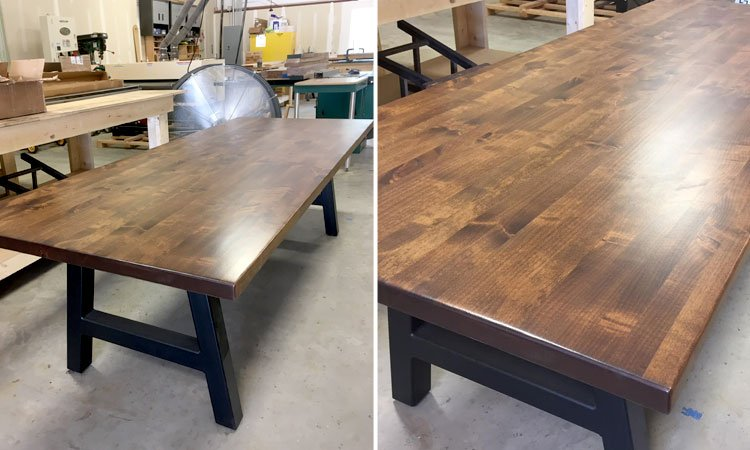 Custom Wood & Steel Table | Modern Tables Celina