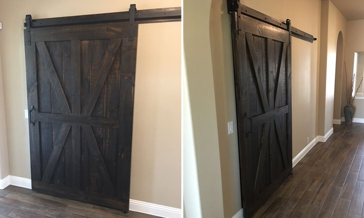 Custom Designed Rustic Pine Barn Door | Barn Doors Denton, Tx