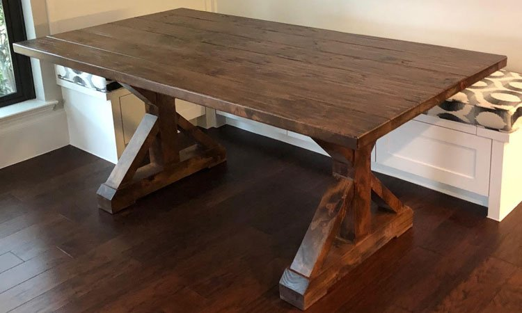 Farmhouse Trestle Table | Custom Kitchen Tables Highland Park, Tx