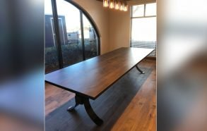 Designer Conference Table | Modern Wood & Steel Table Flower Mound, TX