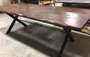 Modern Industrial Dining Table | Hardwood and Steel Tables Little Elm Tx