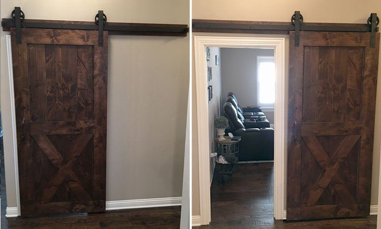 Knotty Alder Interior Barn Door | Handbuilt Barn Doors McKinney, Tx
