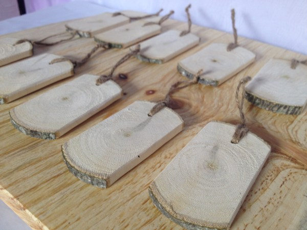 Rustic wood gift tags