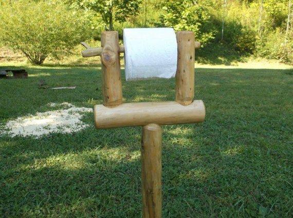 log tissue paper holder
