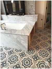Cement Tile Bathroom Floors