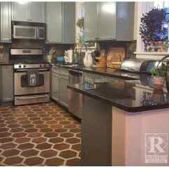 Tile Kitchen Floors How To Build A Bar Saltillo Terracotta Rustico 8x8 Hexagon Pattern
