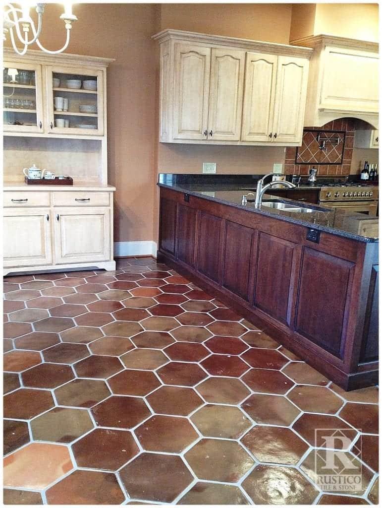 kitchen hexagon manganese saltillo tile