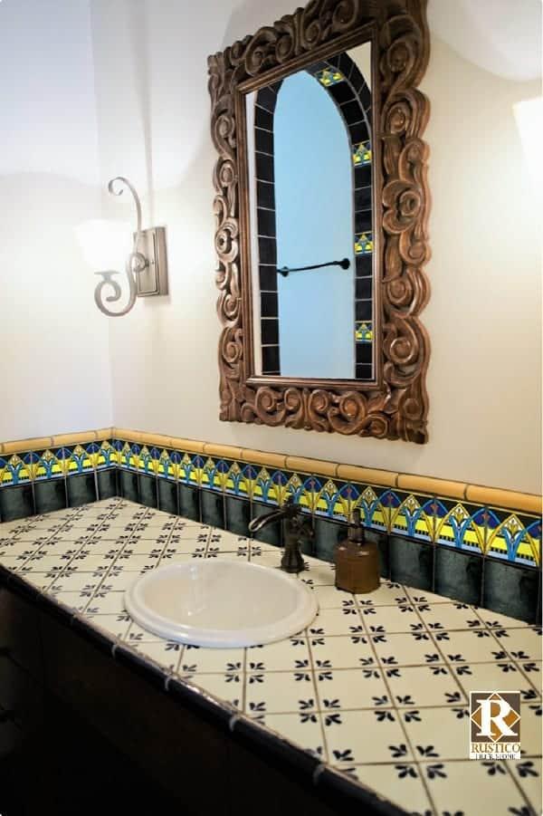 hand painted mexican talavera tile 6x6 cobalt blue 45 glazed tiles