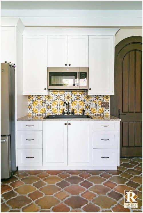 thames cement tile backsplash rustico