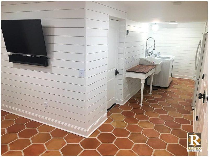 12x12 hexagon saltillo terracotta tile