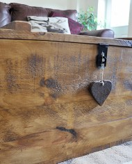 rustic pine chest