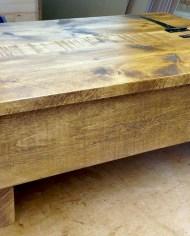 rustic pine storage table