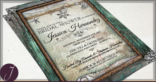 Rustic Bridal Shower Invitations by J