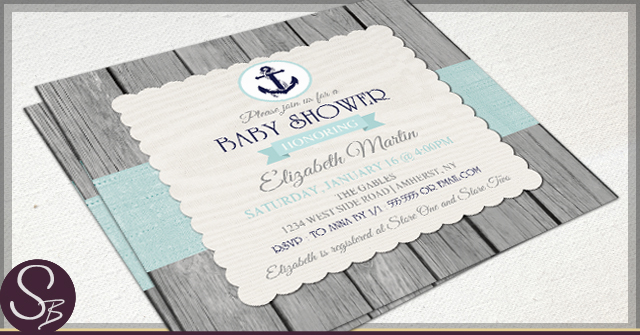 Rustic Baby Shower Invitations by SB