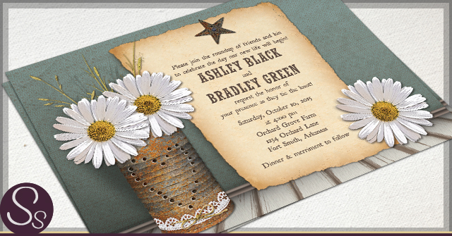 Rustic Tin Can Invitations by SS