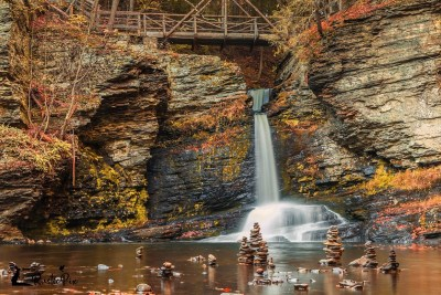 Deer Leap Falls autumn Poconos