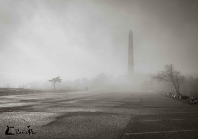 High Point Monument fog