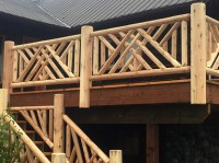Log Handrail for your HOME