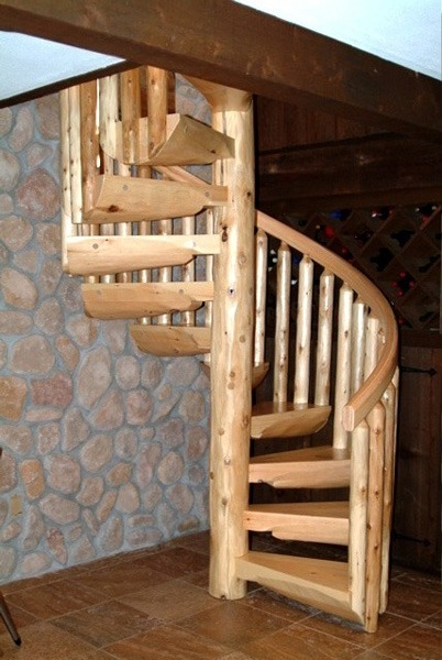 Spiral Staircases Ryan S Rustic Railings Orr Mn | Wooden Staircases For Sale | Cheap | Steel | Landing | House | New Model