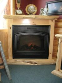 Cedar Log Fireplace Mantels. Great With Cedar Log ...