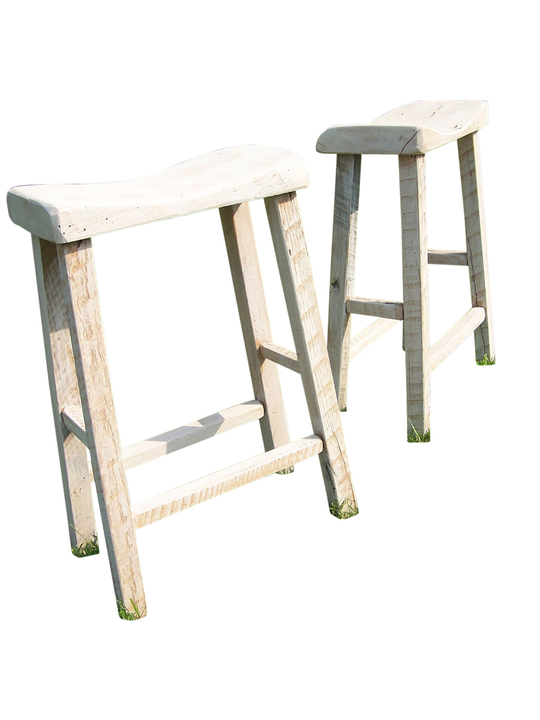 oak farmhouse chairs hanging tree chair reclaimed live edge bar stools with whitewashed pickled finish | rustic restaurant furniture