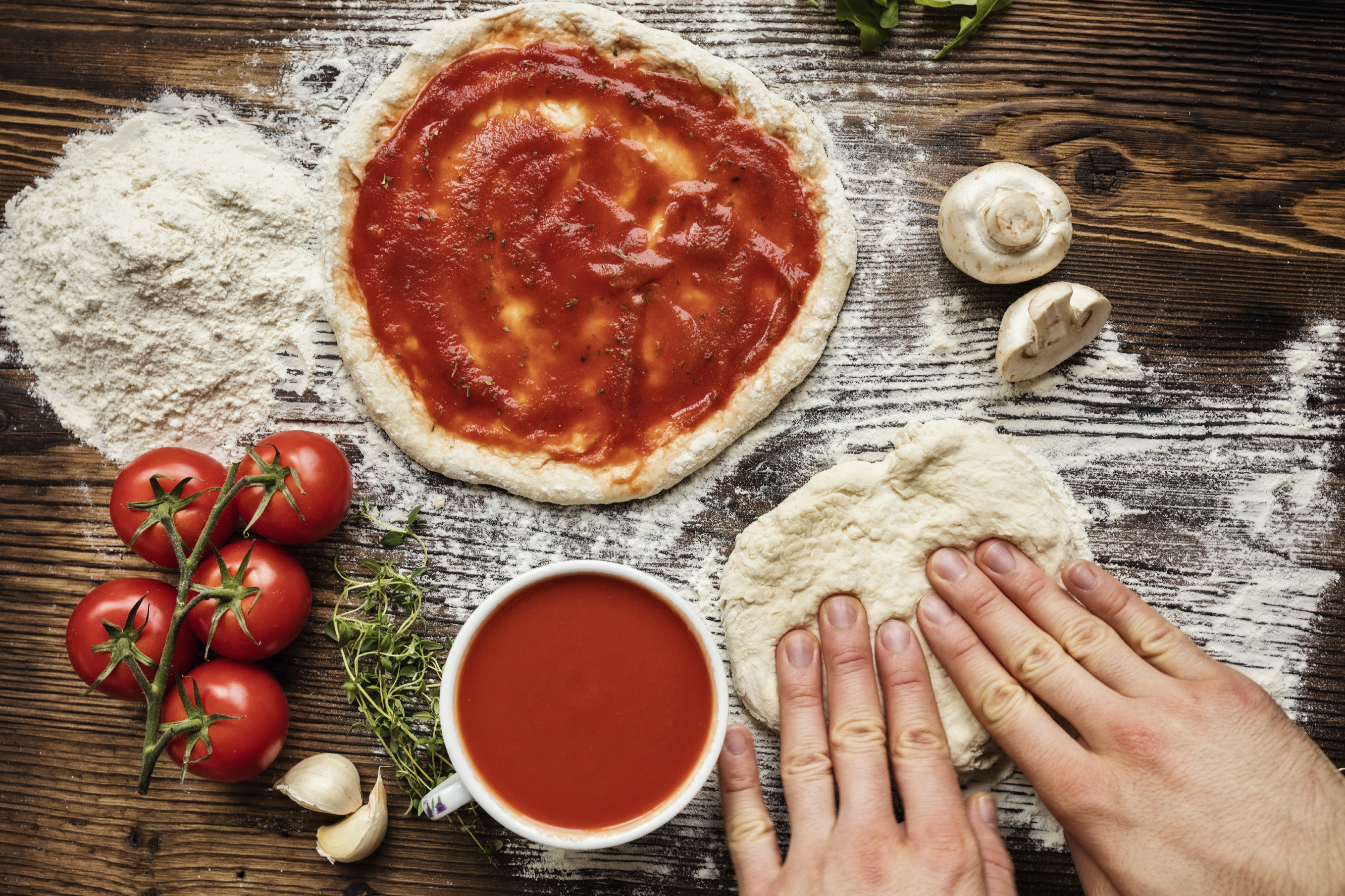 Hand Crafted Stone Oven Baked Pizzas