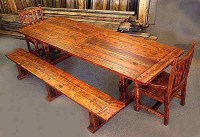 Farmers Table with Matching Benches and Chairs | Rustics North