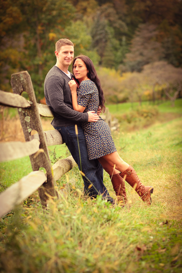 New Jersey Farm Style Engagement Session Megan  Bryan  Rustic Wedding Chic
