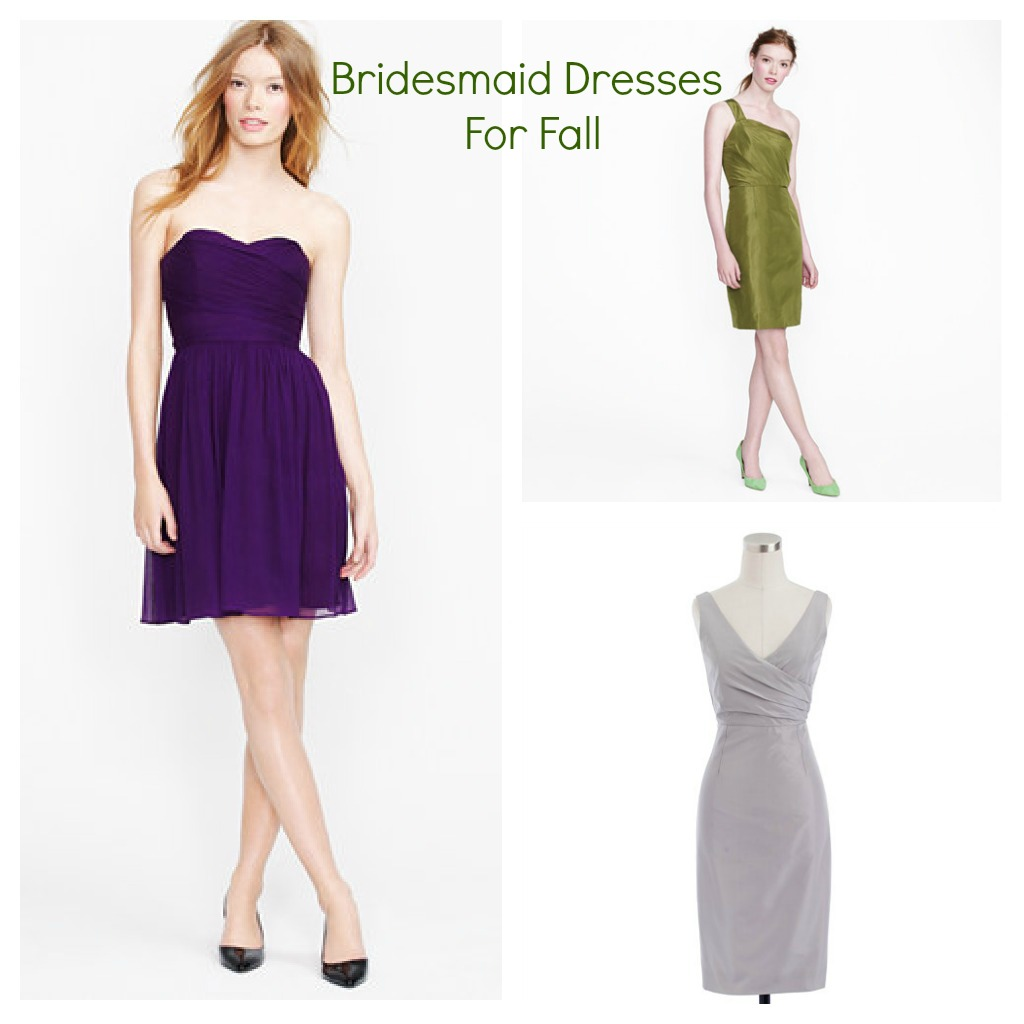 Bridesmaid Dresses For A Fall Wedding