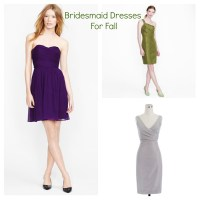 Bridesmaid Dresses For A Fall Wedding