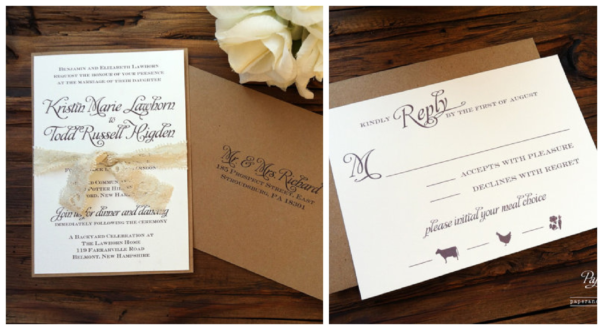 New Rustic Wedding Invitation Trends  Rustic Wedding Chic