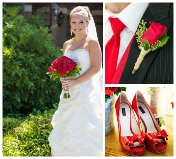 Red White Themed Wedding Rustic Wedding Chic
