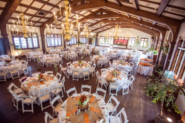 Orange & Gray Wedding Colors