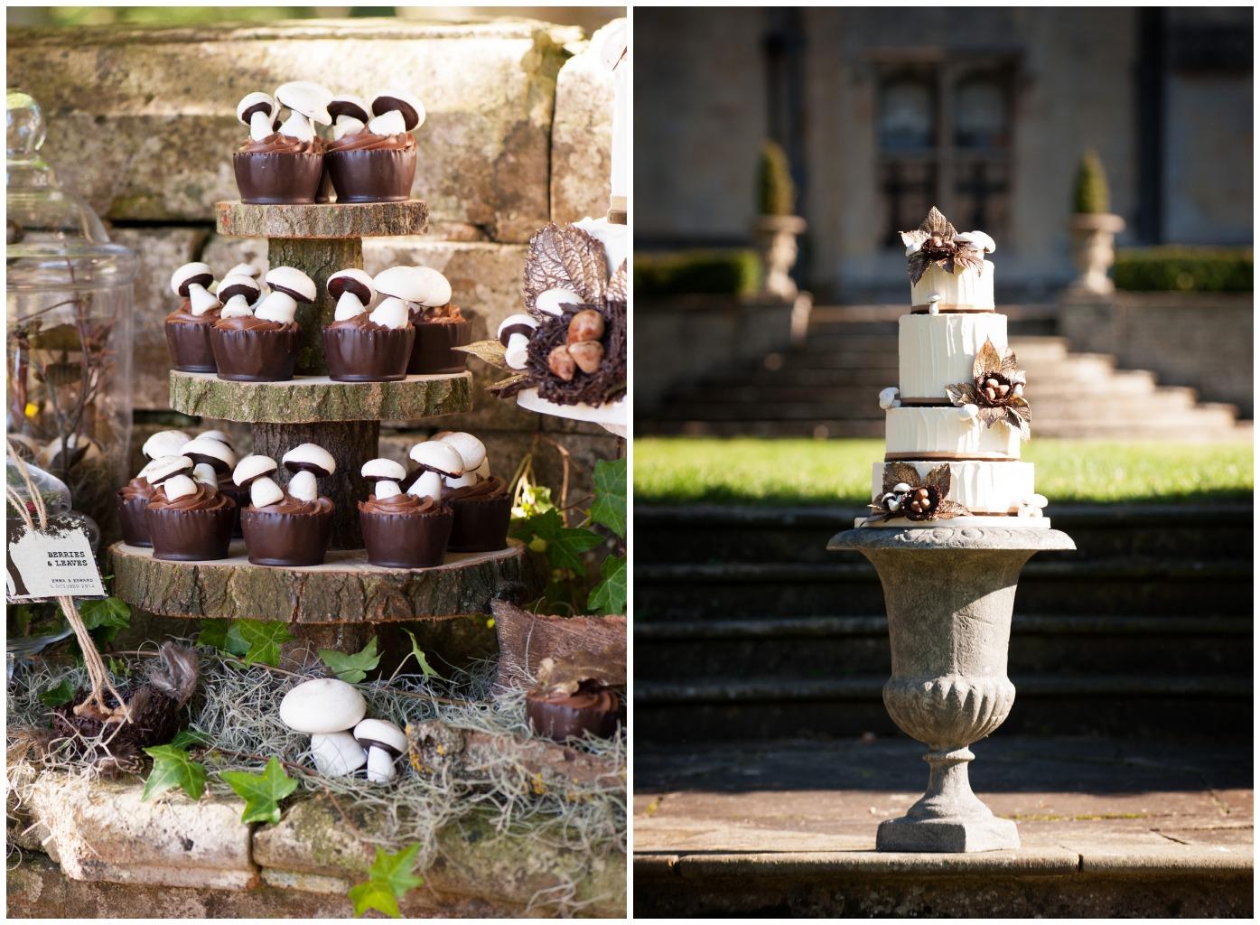 Woodland Themed Wedding Cake