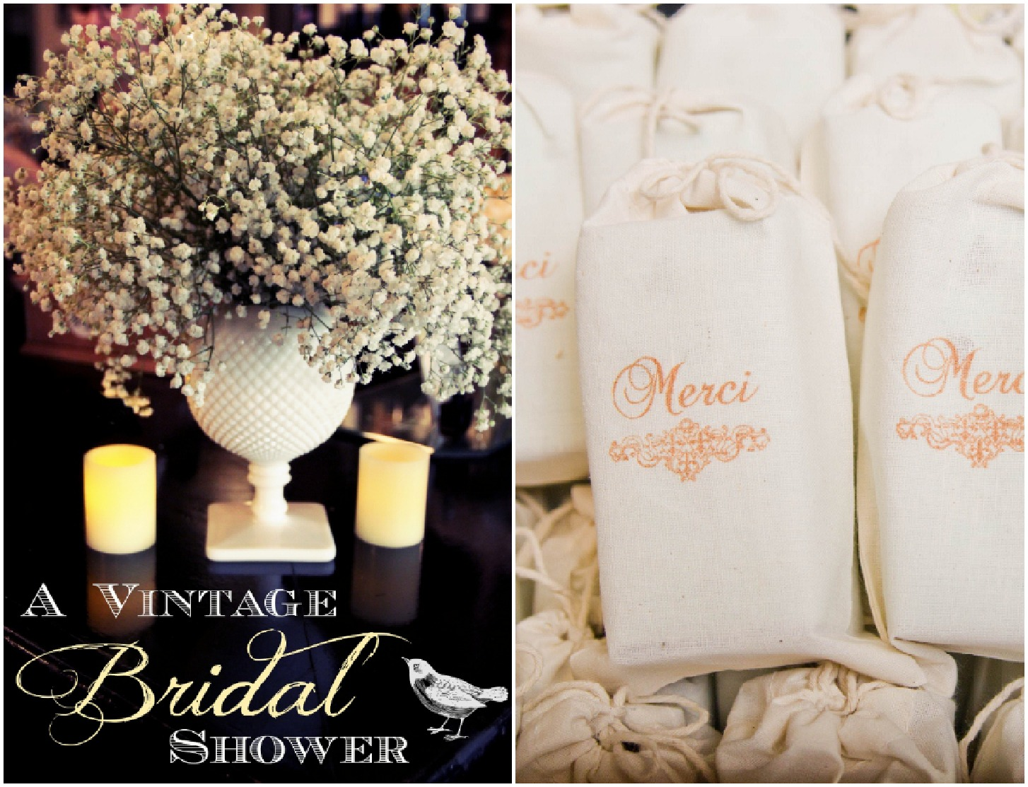 Vintage Inspired Bridal Shower