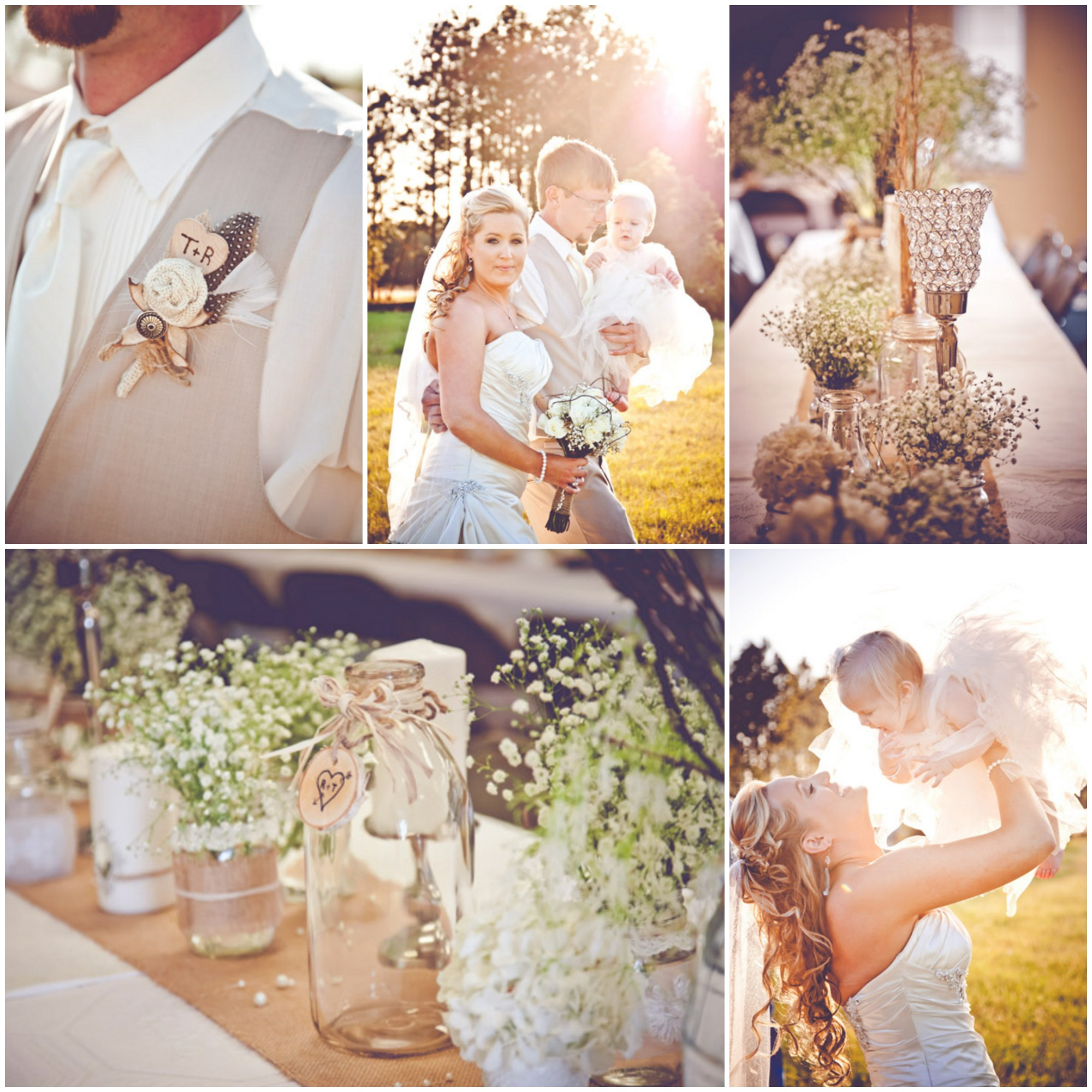 Burlap Inspired Country Wedding Trudie  Robbie  Rustic Wedding Chic