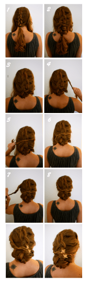 hairstyle rustic wedding