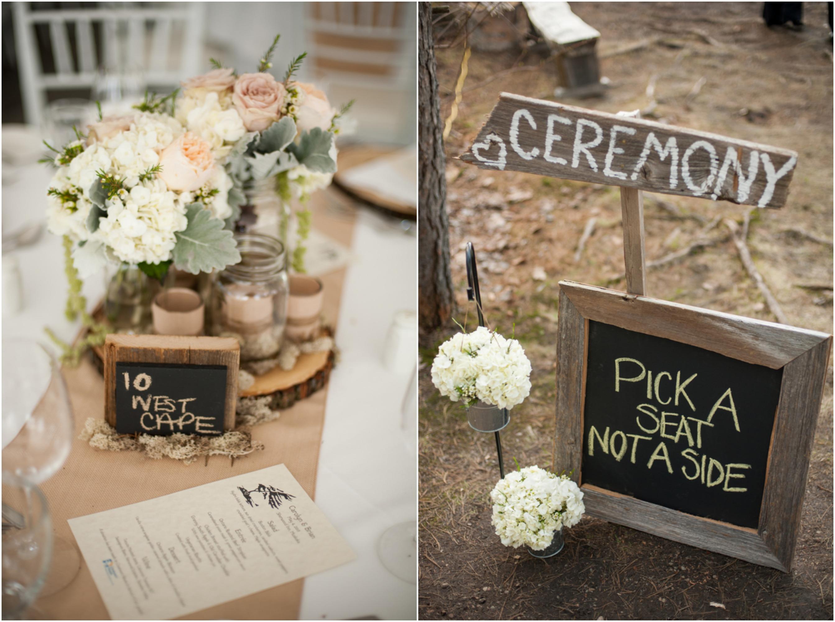 Eco-Friendly Woodsy Rustic Wedding